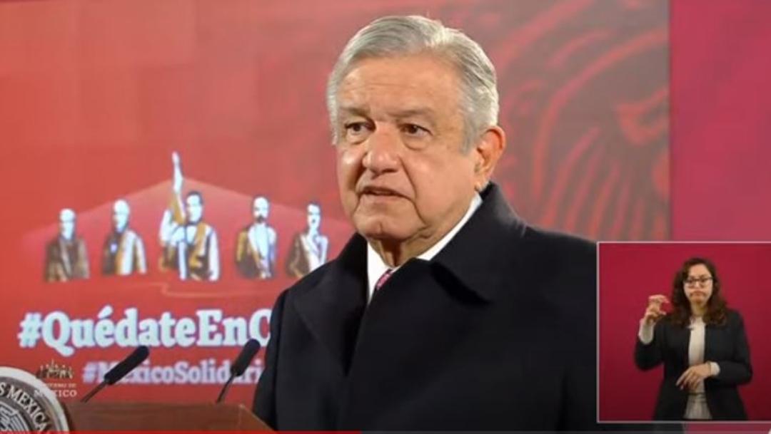 Andrés Manuel López Obrador durante la conferencia de prensa matutina