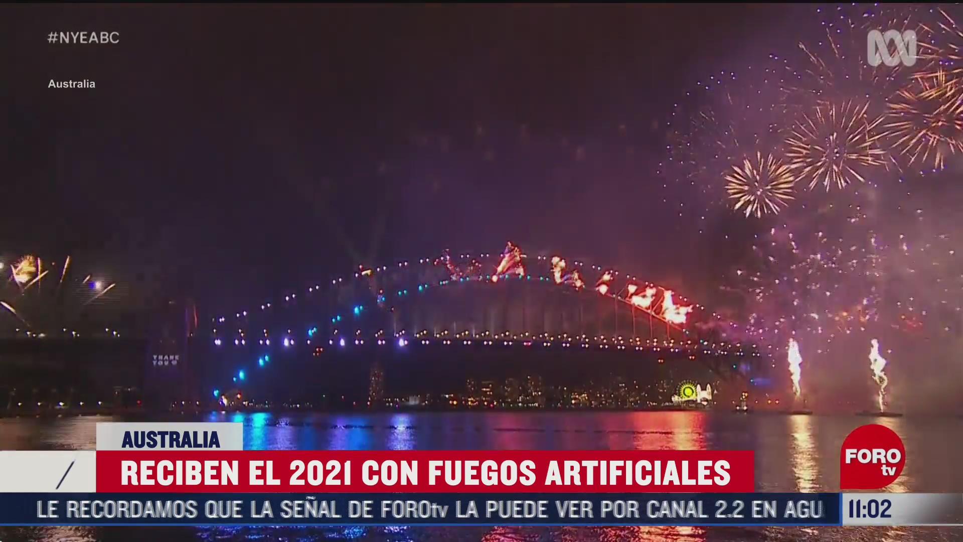 australia recibe el 2021 con fuegos artificiales