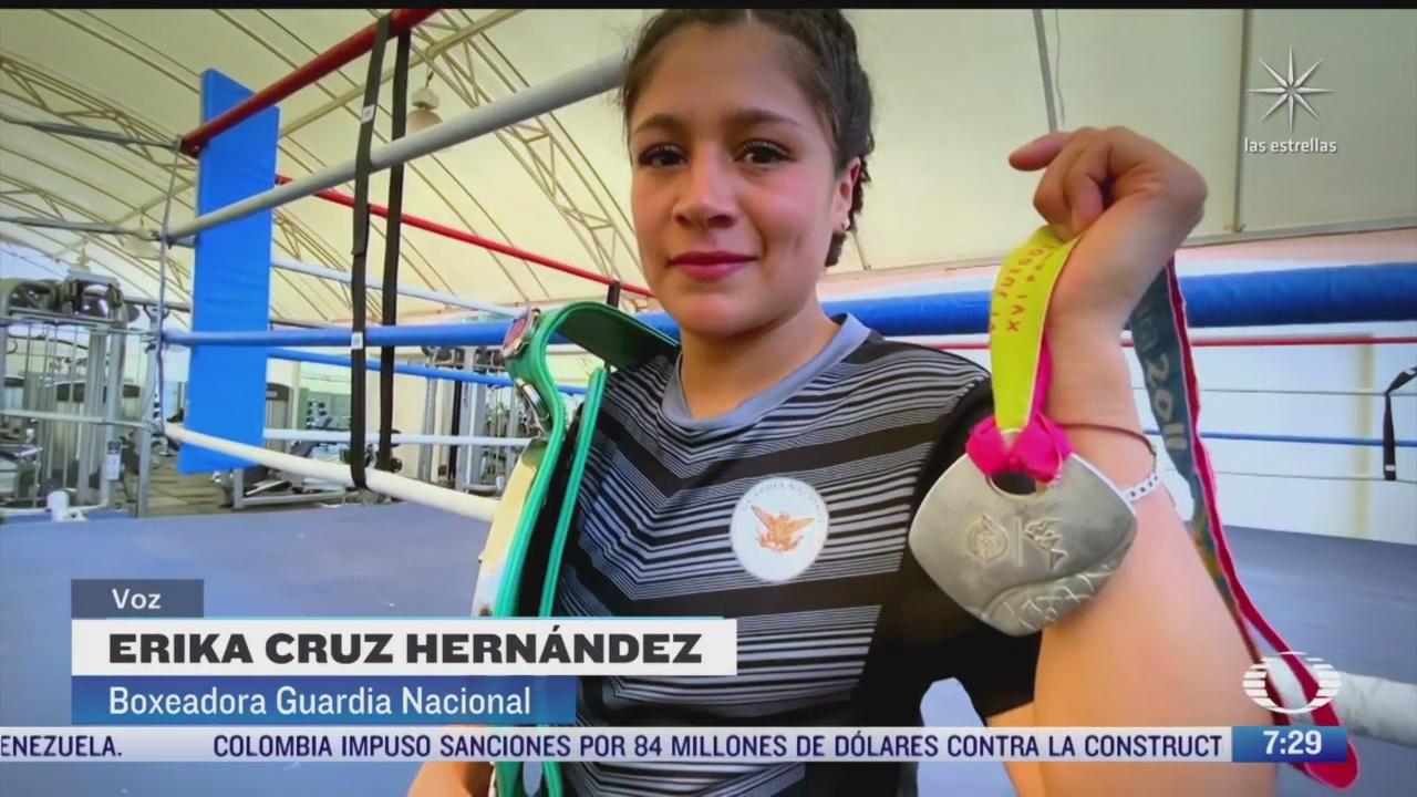 boxeadora mexicana trabaja en la guardia nacional