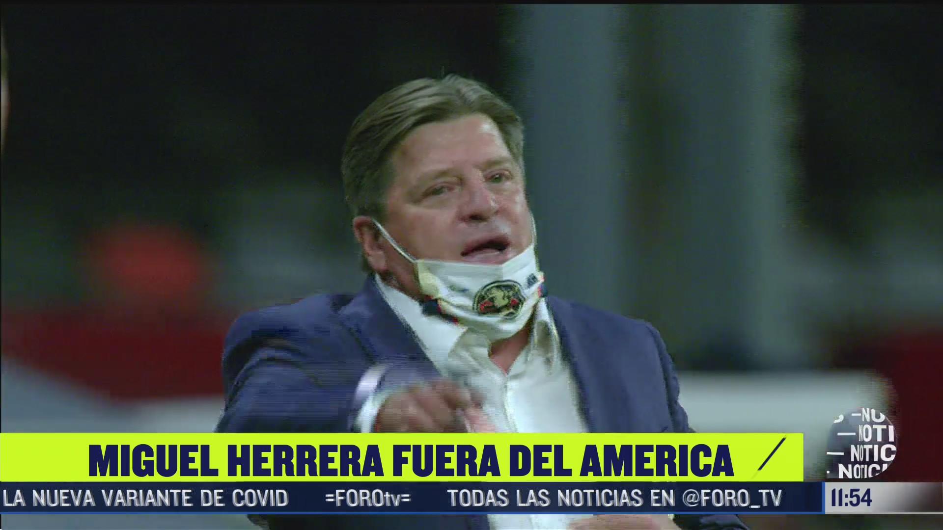 club america termina relacion laboran con miguel herrera