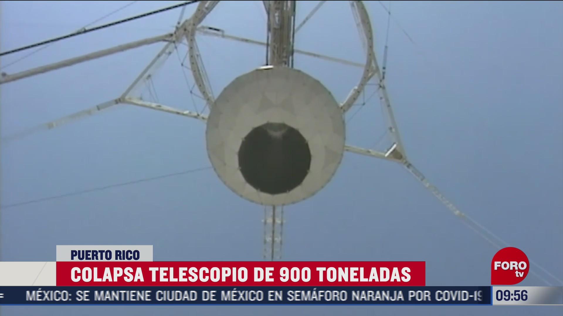 colapsa telescopio de 900 toneladas en puerto rico