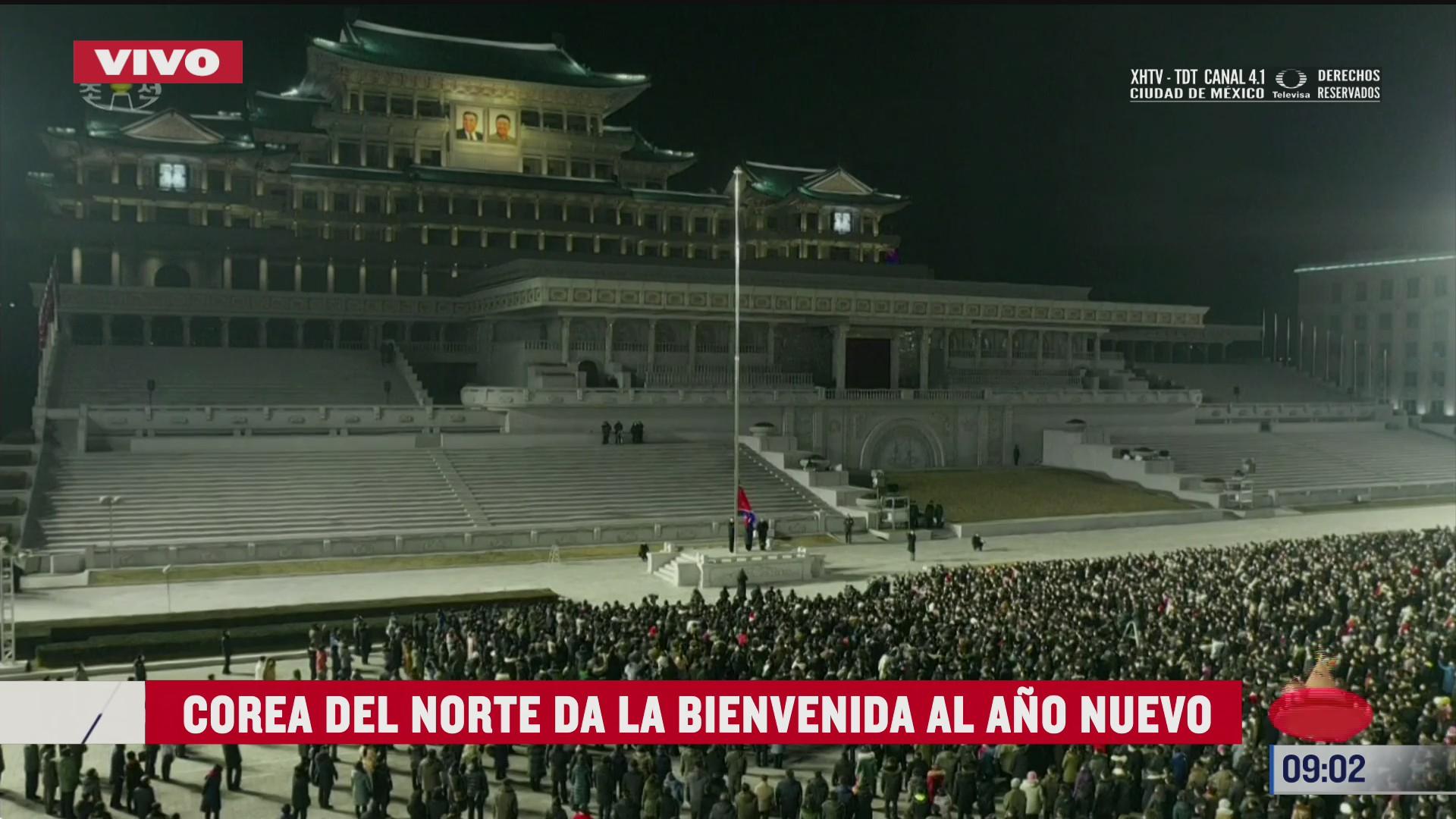 corea del norte da la bienvenida al ano nuevo