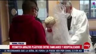 crean cortina de abrazos para ninos en hospital de roma