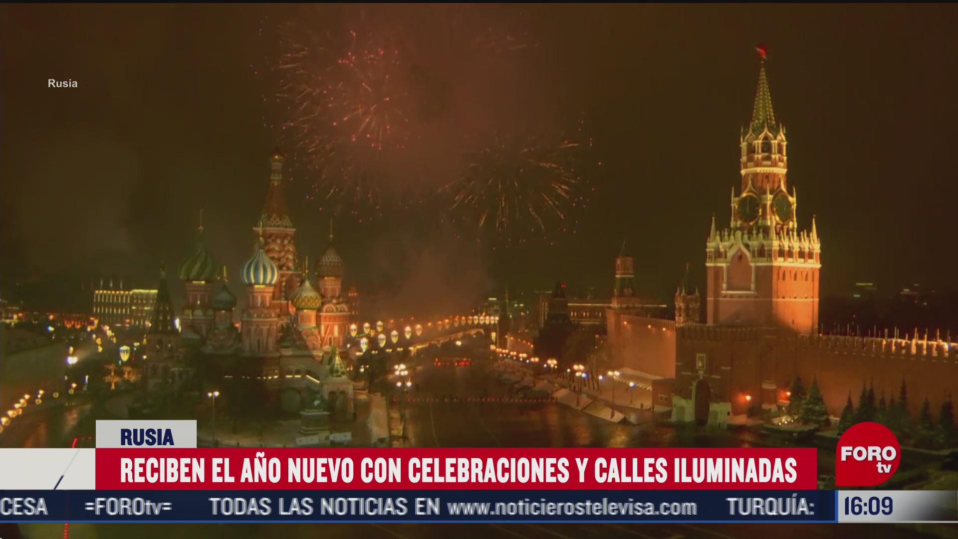 año nuevo en moscu pese a restricciones del gobierno por COVID