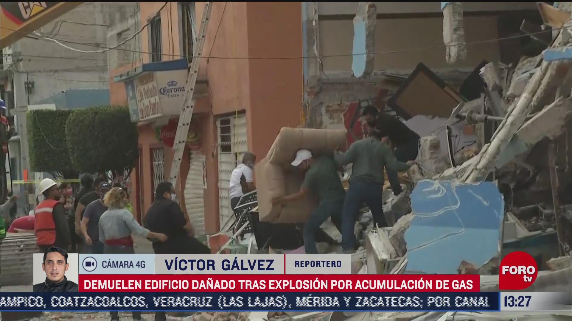 demuelen edificio tras explosion por gas en azcapotzalco