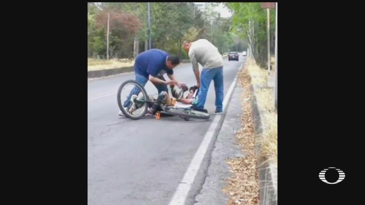 despiden a trabajador de semovi por agredir a un ciclista