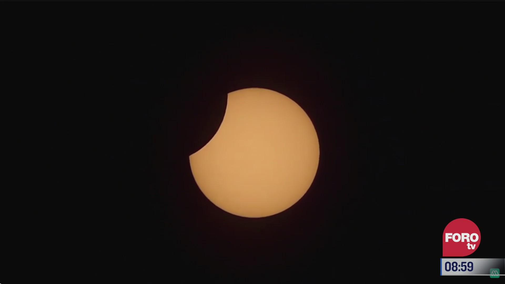 espectacular eclipse total de sol se registra en america