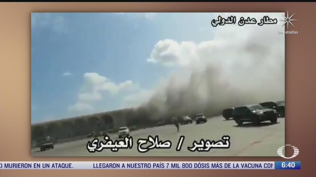 explosiones en el aeropuerto de aden en yemen