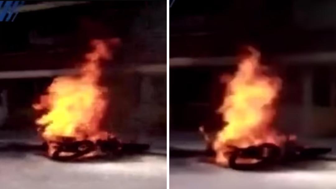 bogota queman ladron robo moto
