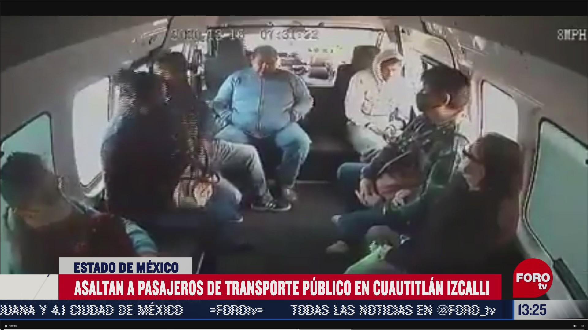 graban asalto al transporte publico en cuautitlan izcalli