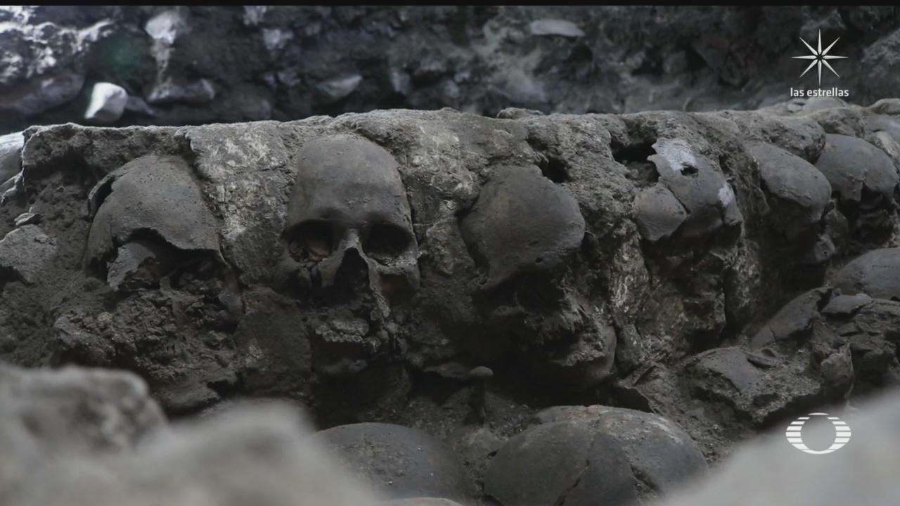 hallan muro con 119 craneos humanos cerca del templo mayor