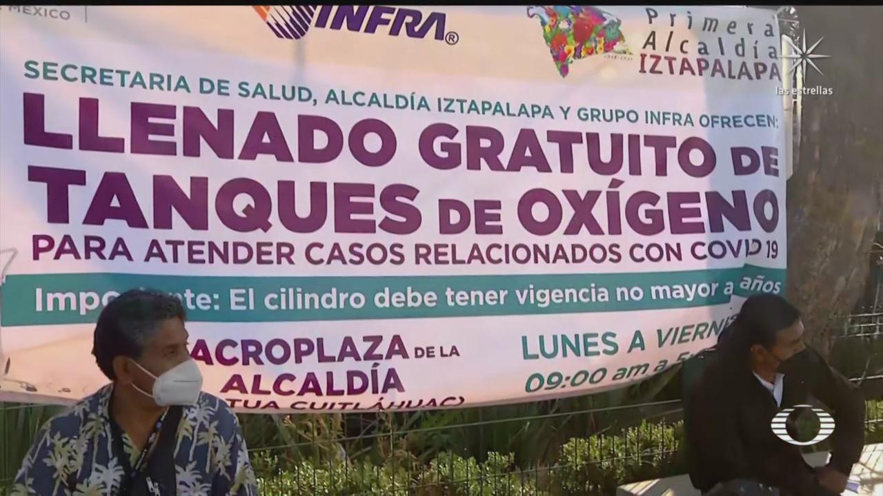 iztapalapa ofrece recargas de oxigeno gratuitas