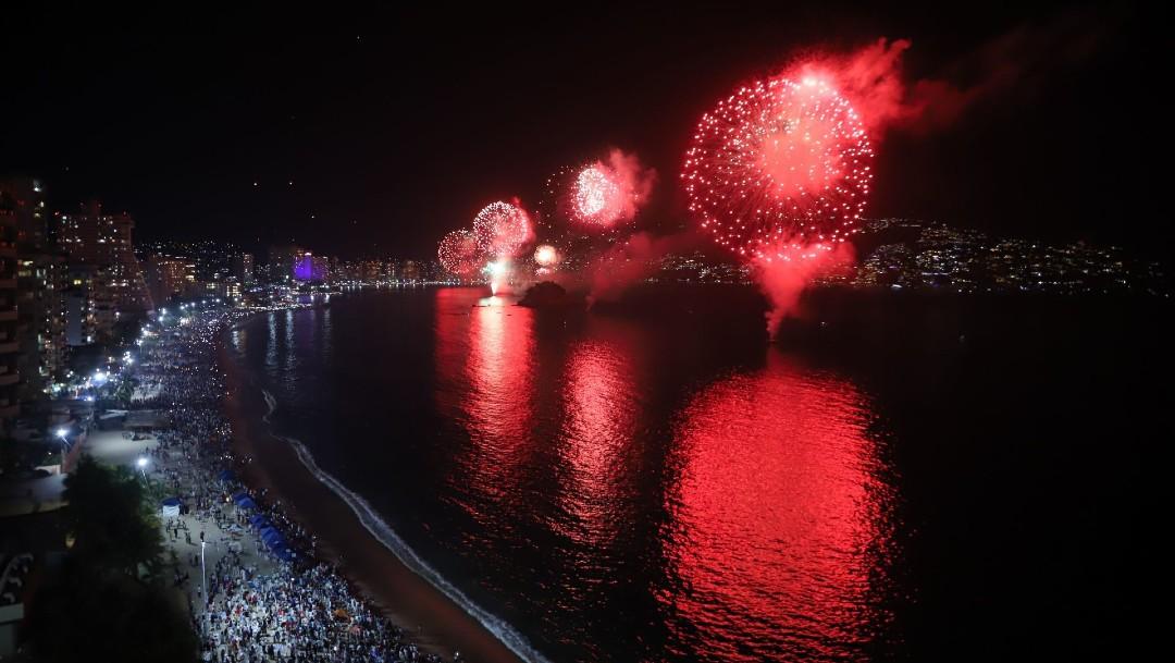 Pirotecnia de fin de año en Acapulco