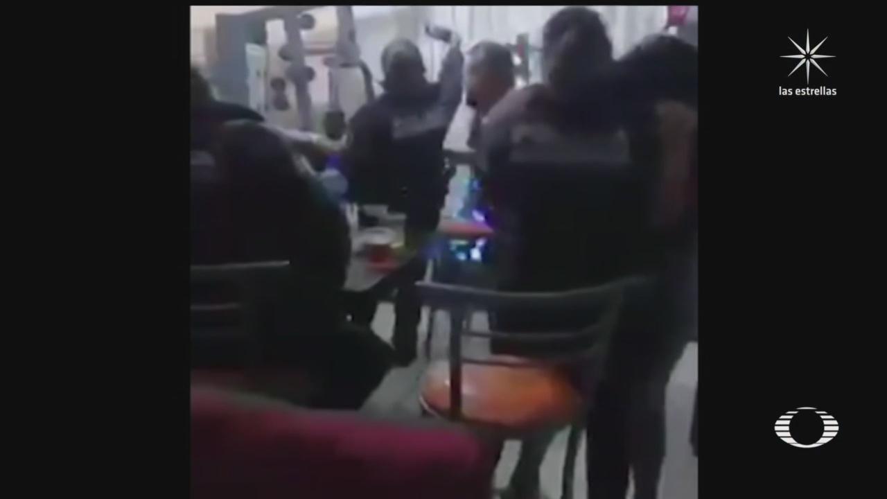 policias de morelia michoacan son captados celebrando el fin de ano