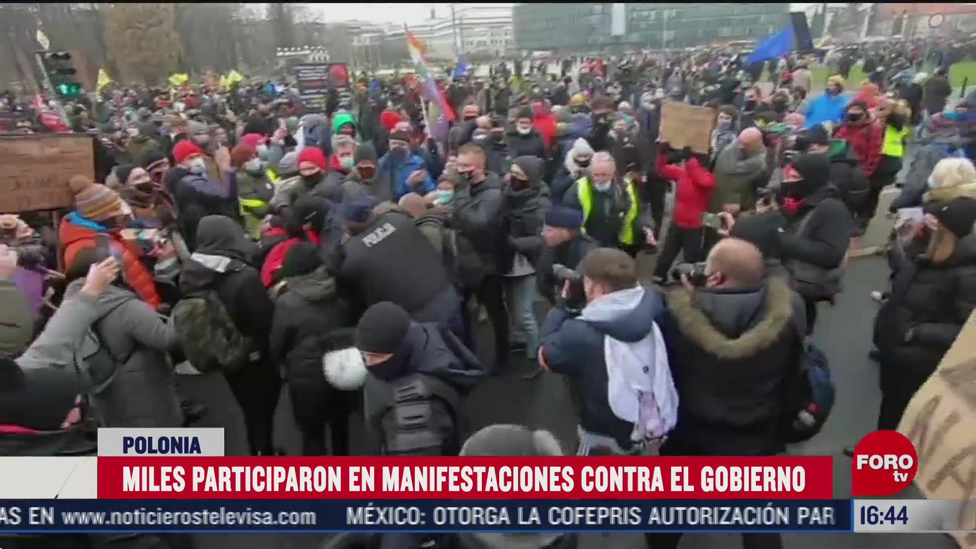 polonia vive jornada de protestas politicas