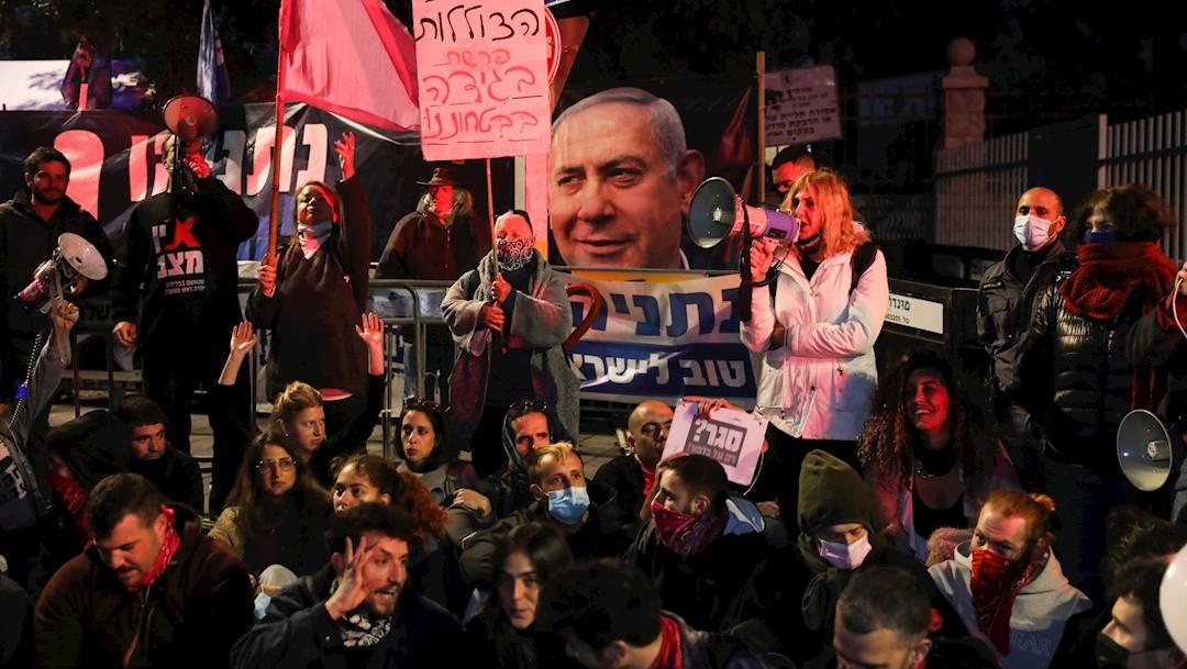 Protesta contra Netanyahu convoca a miles de personas en Israel