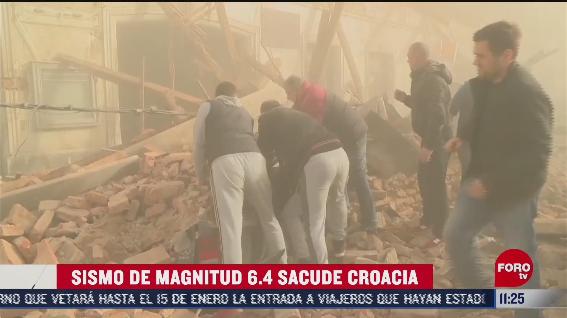 reportan muertos y danos por fuerte sismo en croacia