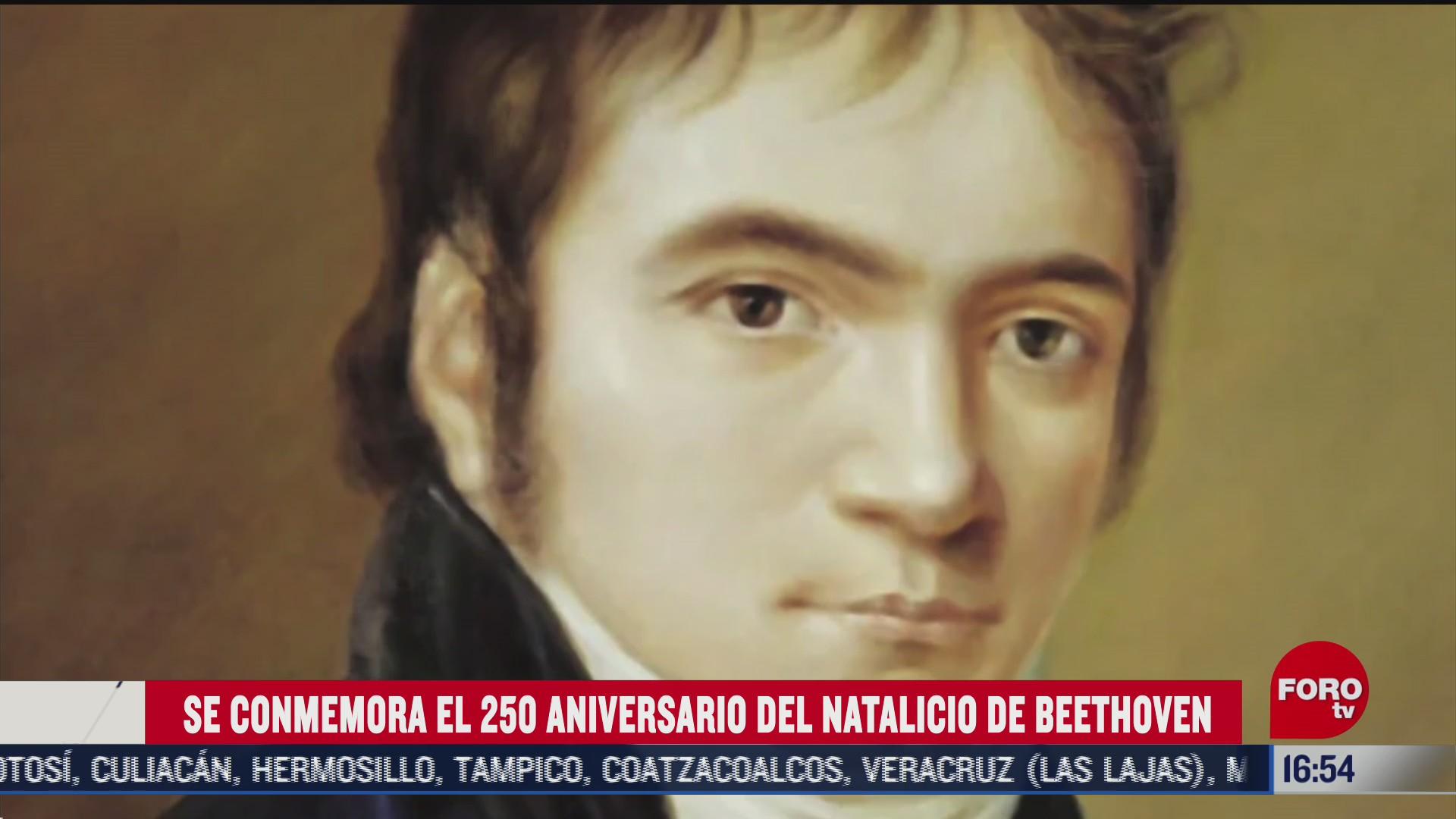 se conmemora el 250 aniversario de natalicio de beethoven