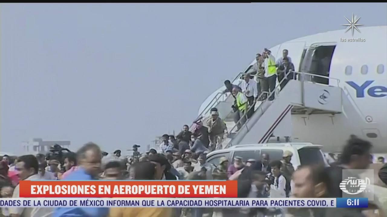 se registran explosiones en aeropuerto de yemen