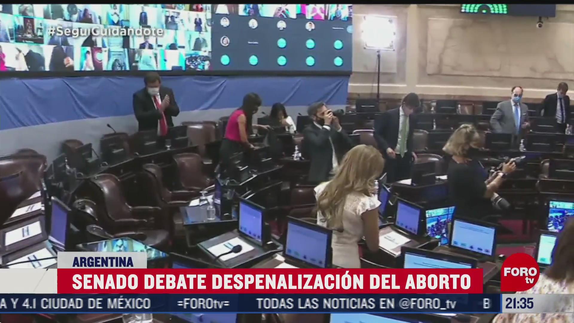 senado de argentina debate despenalizacion del aborto