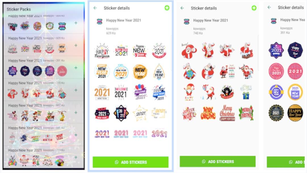 Descarga stickers de Año Nuevo para WhatsApp