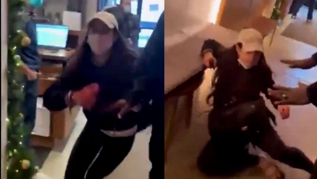 En un hotel de Nueva York fue grabado un video que muestra como una mujer acusa falsamente a un adolescente afroamericano de robo