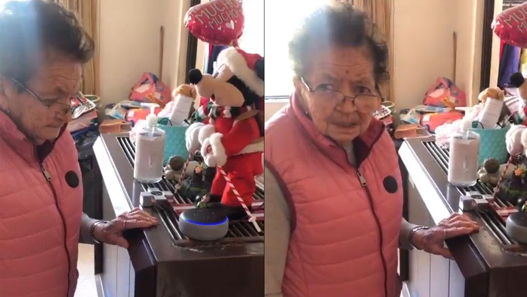 Internet se ha enternecido con el video viral de una abuelita que le pide a Alexa una canción de Agustín Lara