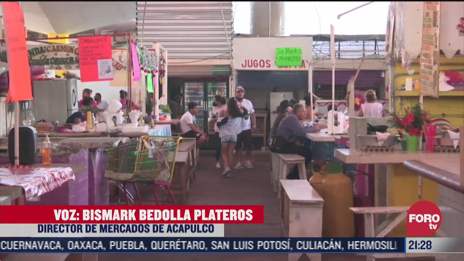 acapulco inicia tercera etapa de desinfeccion en mercados