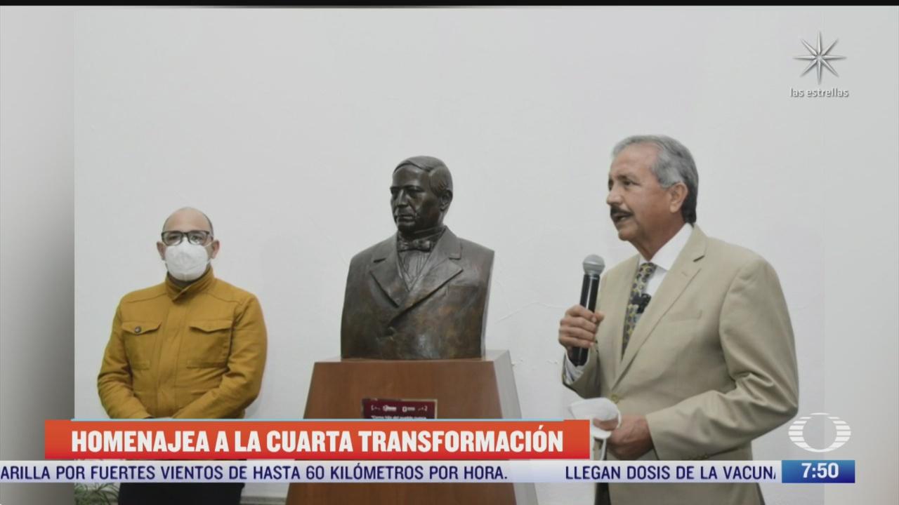 alcalde de culiacan devela mural con la imagen de amlo