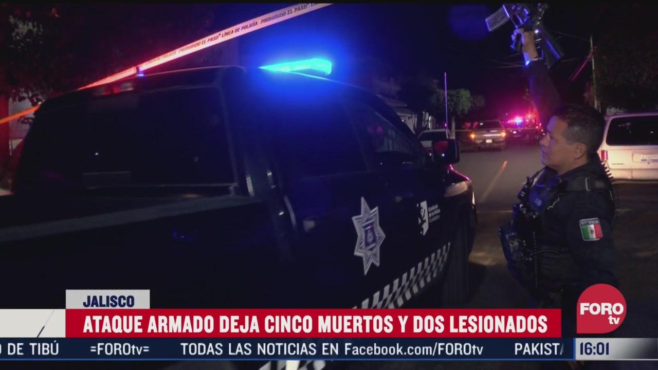 ataque armado deja cinco muertos y dos lesionados en guadalajara jalisco