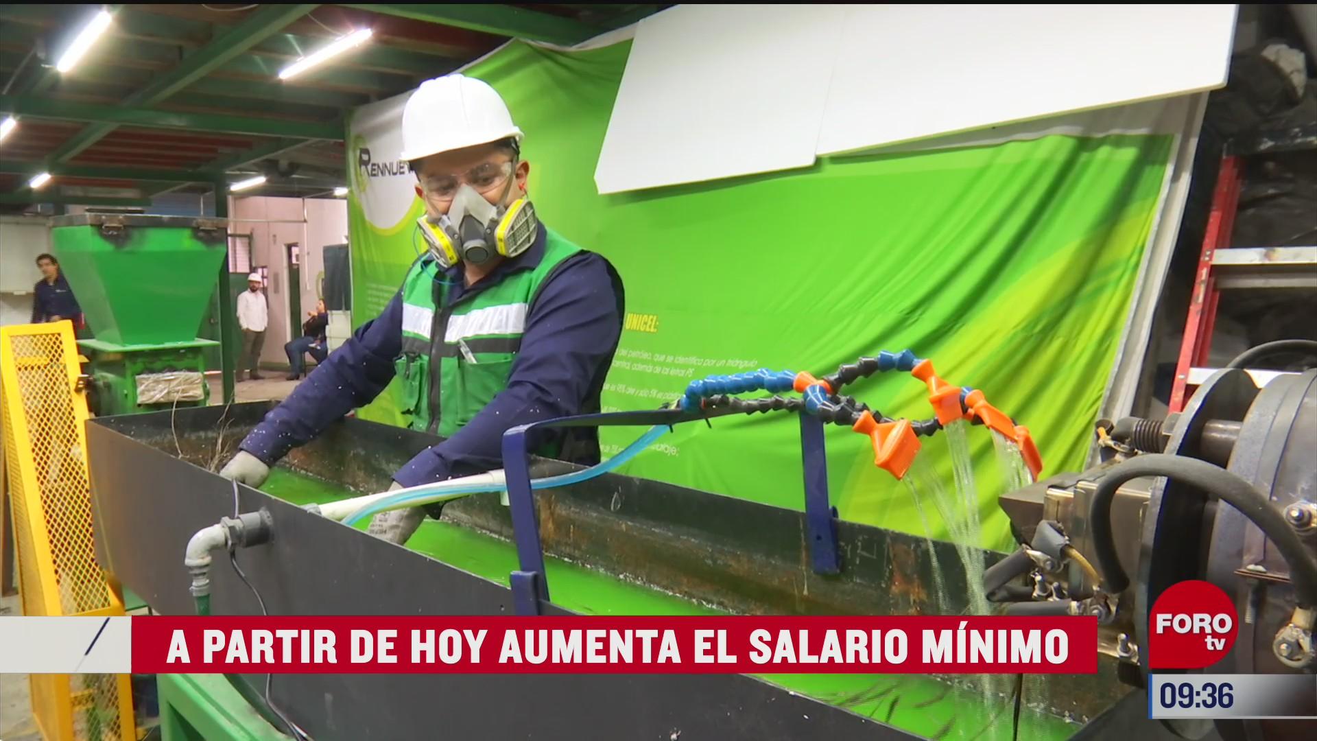 aumenta el salario minimo en mexico