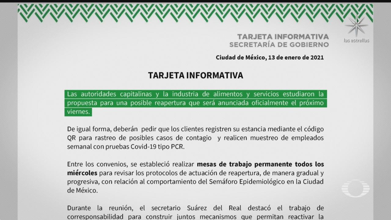 avanzan negociaciones entre restauranteros y autoridades capitalinas