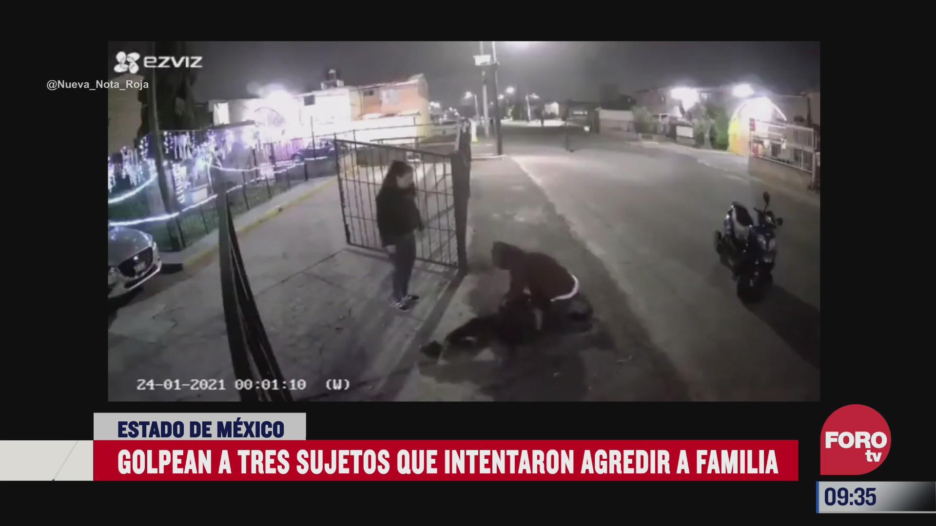 captan en video la agresion sujetos que intentaron amedrentar a una familia en coacalco