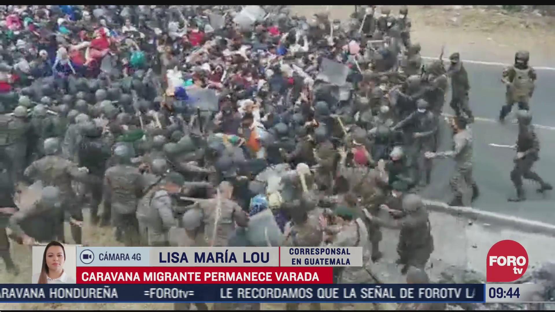 caravana migrante permanece varada en guatemala