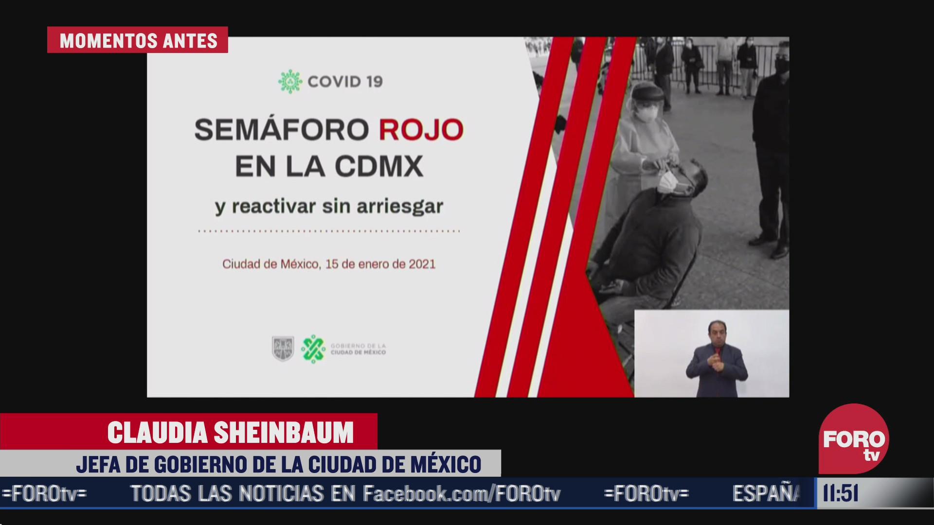 cdmx se mantiene en semaforo rojo por covid