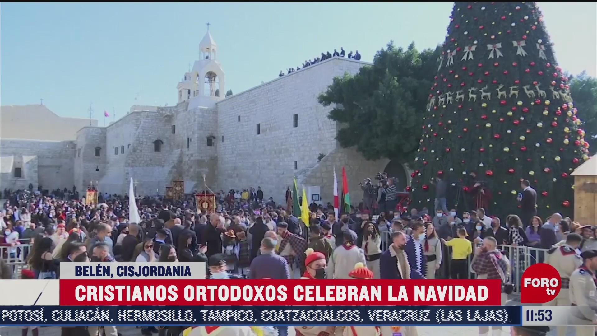 cristianos ortodoxos celebran la navidad