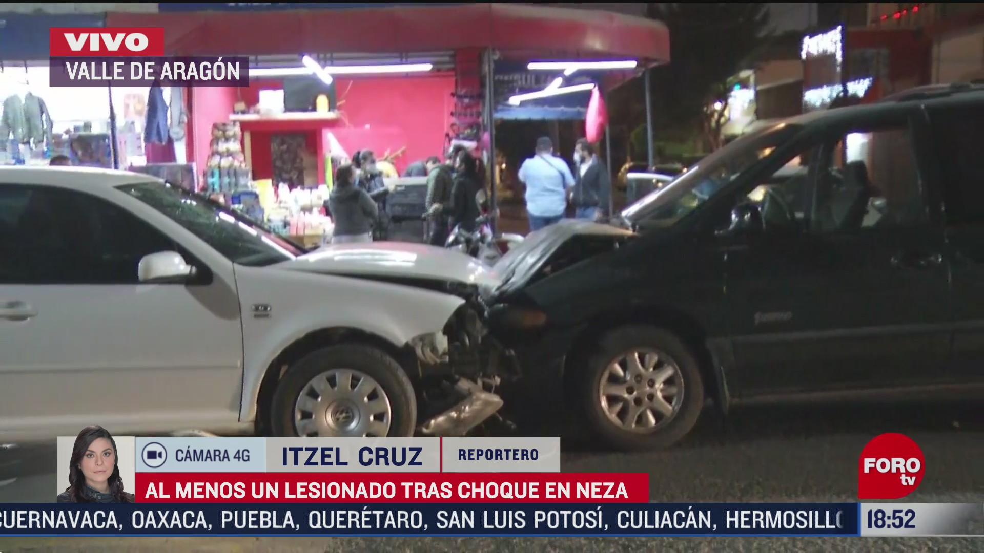 Choque en Neza deja cuatro personas lesionadas