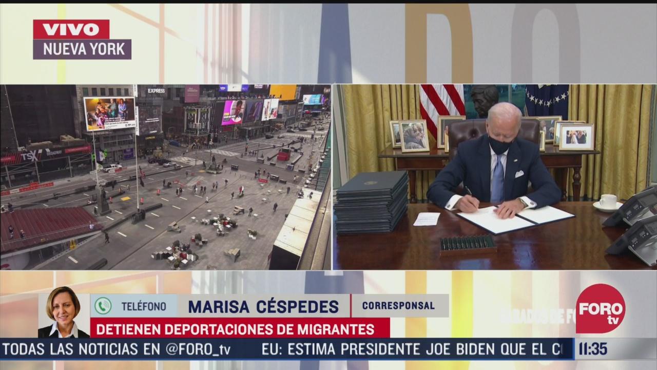 detienen deportaciones de migrantes en eeuu