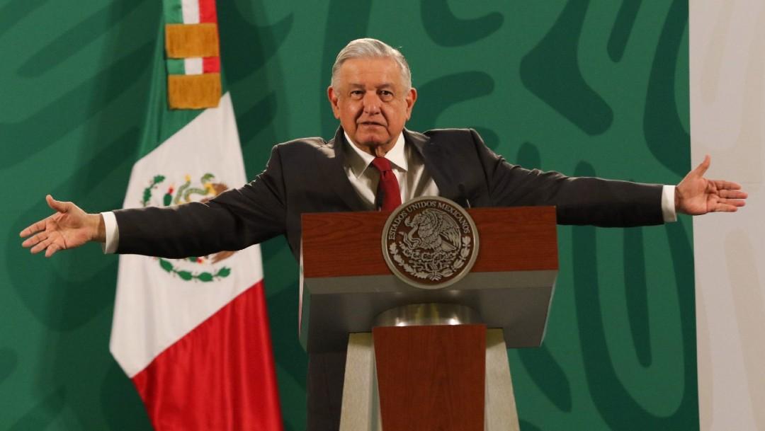 El presidente López Obrador habla en conferencia matutina
