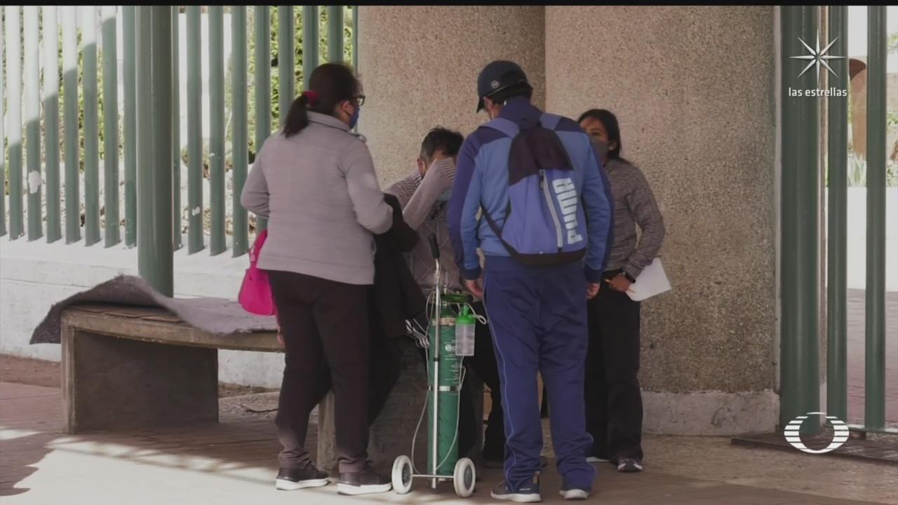 en toluca pacientes con covid 19 son atendidos afuera del hospital