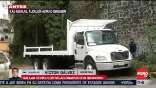encuentran camioneta y camion de presuntos asesinos en la alvaro obregon
