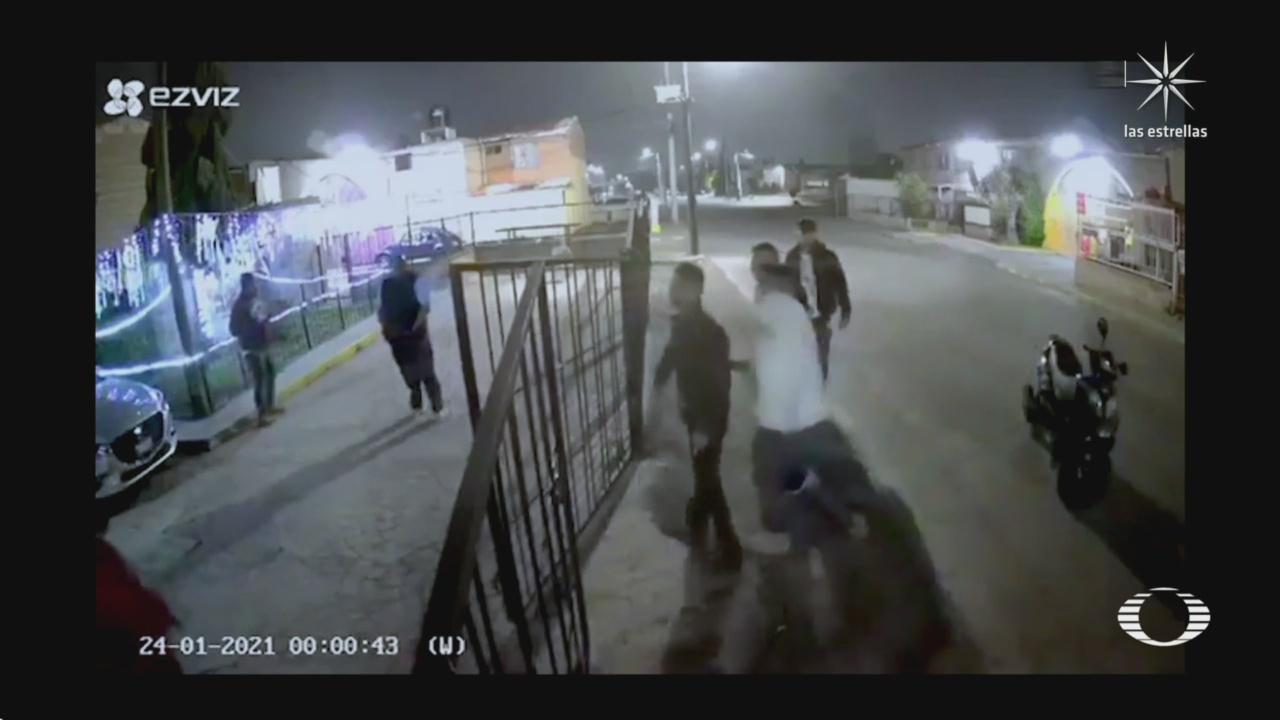 familia en coacalco se enfrentan con hombres que los agredieron con arma de fuego