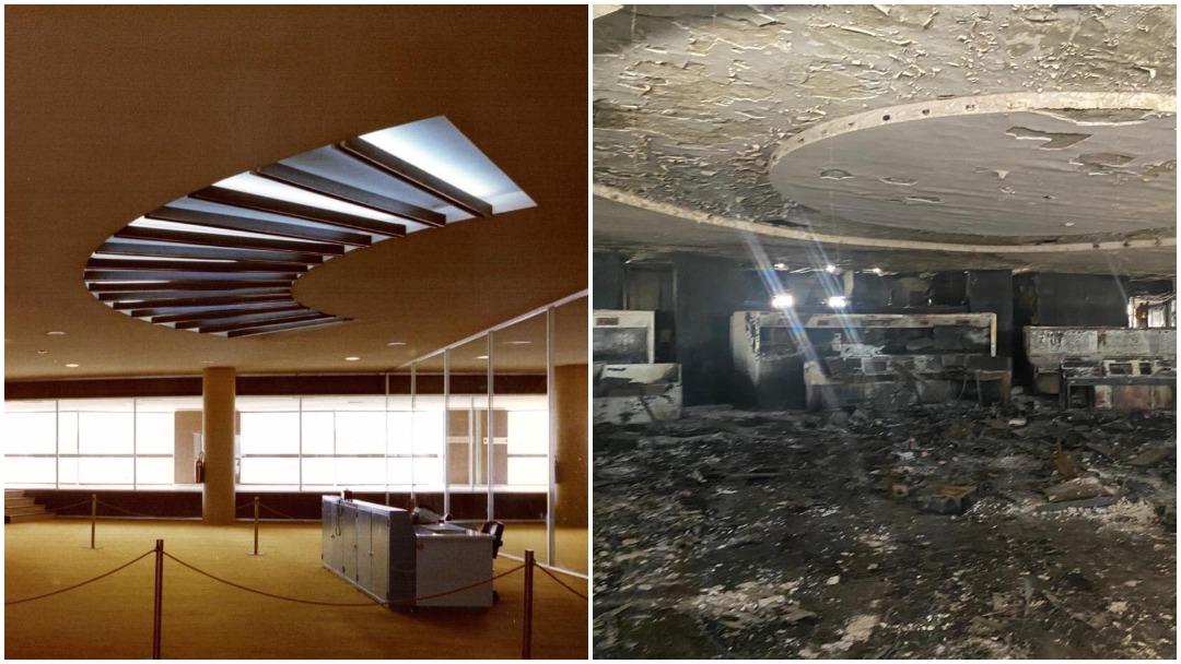 Fotos así quedó el Centro de Control del Metro tras incendio