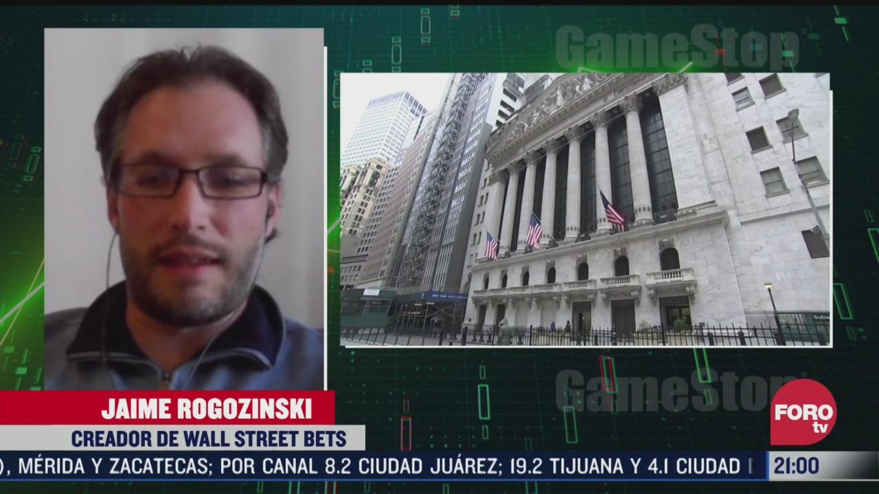 Fundador de Wall Street Bets explica el caso de GameStop