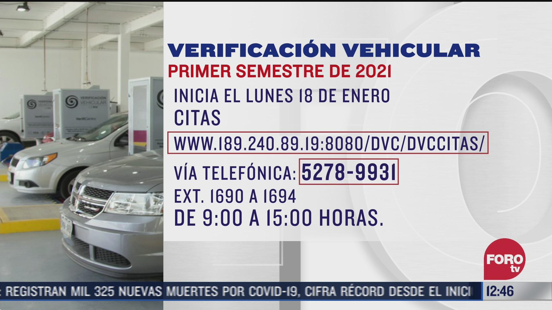 habilitan citas para la verificacion vehicular en la cdmx