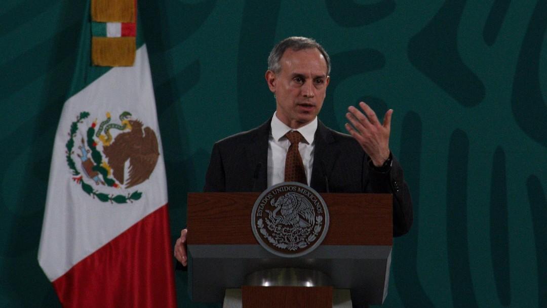 Hugo López Gatell en conferencia matutina de López Obrador