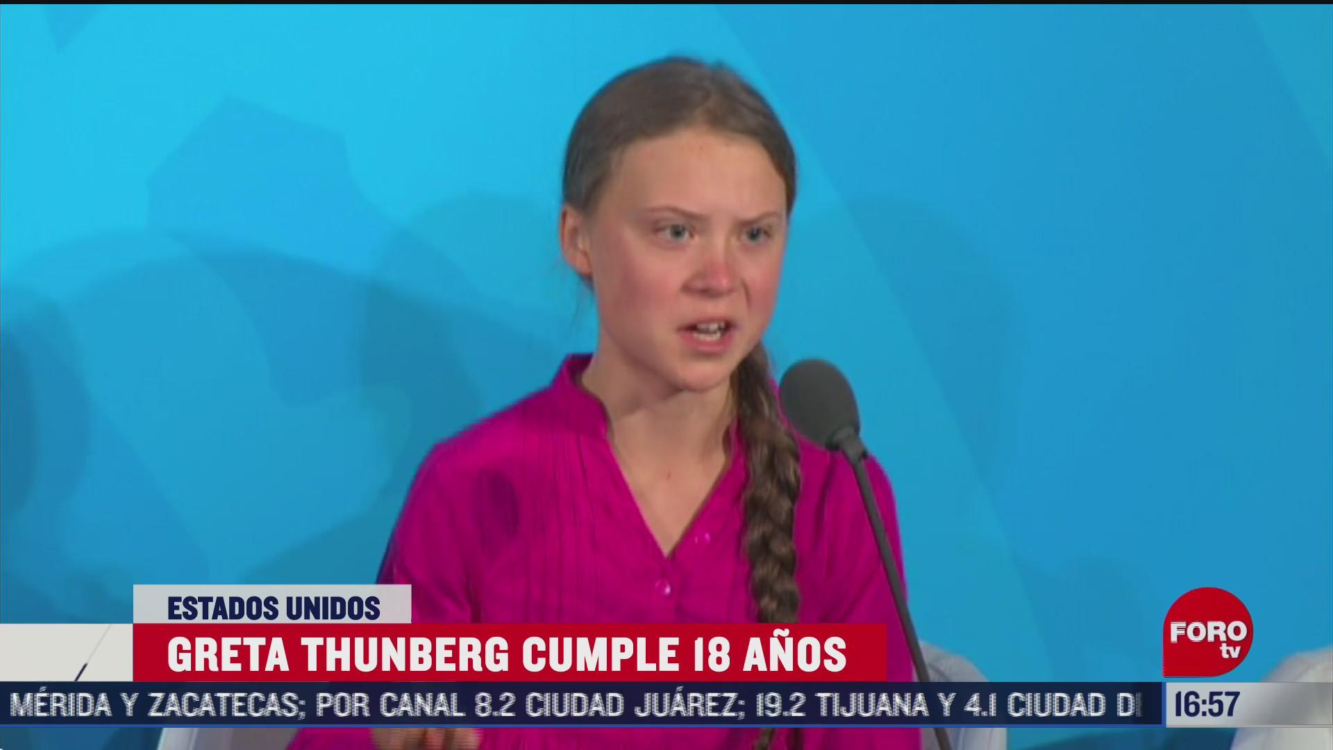 la activista greta thunberg cumple 18 anos