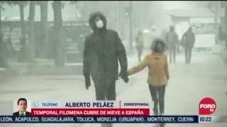 madrid sufre afectaciones por gran nevada