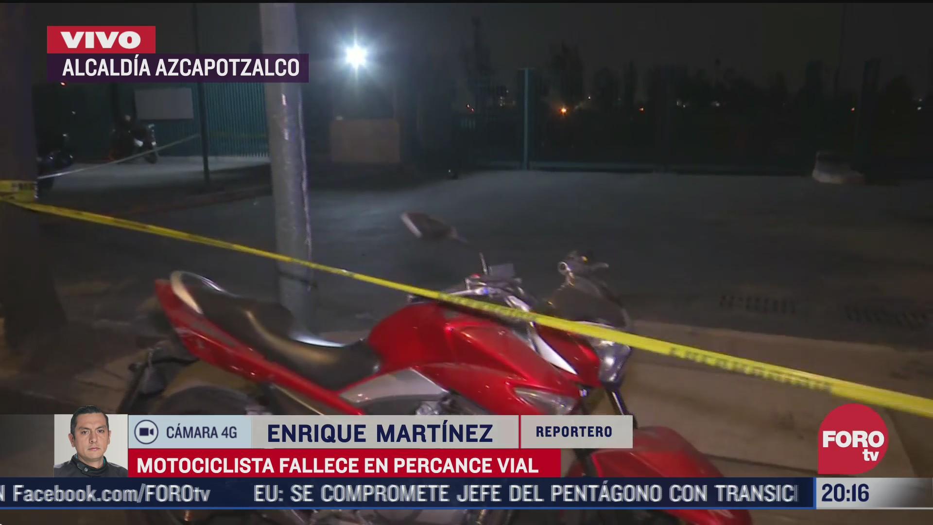 muere motociclista tras derrapar en azcapotzalco cdmx