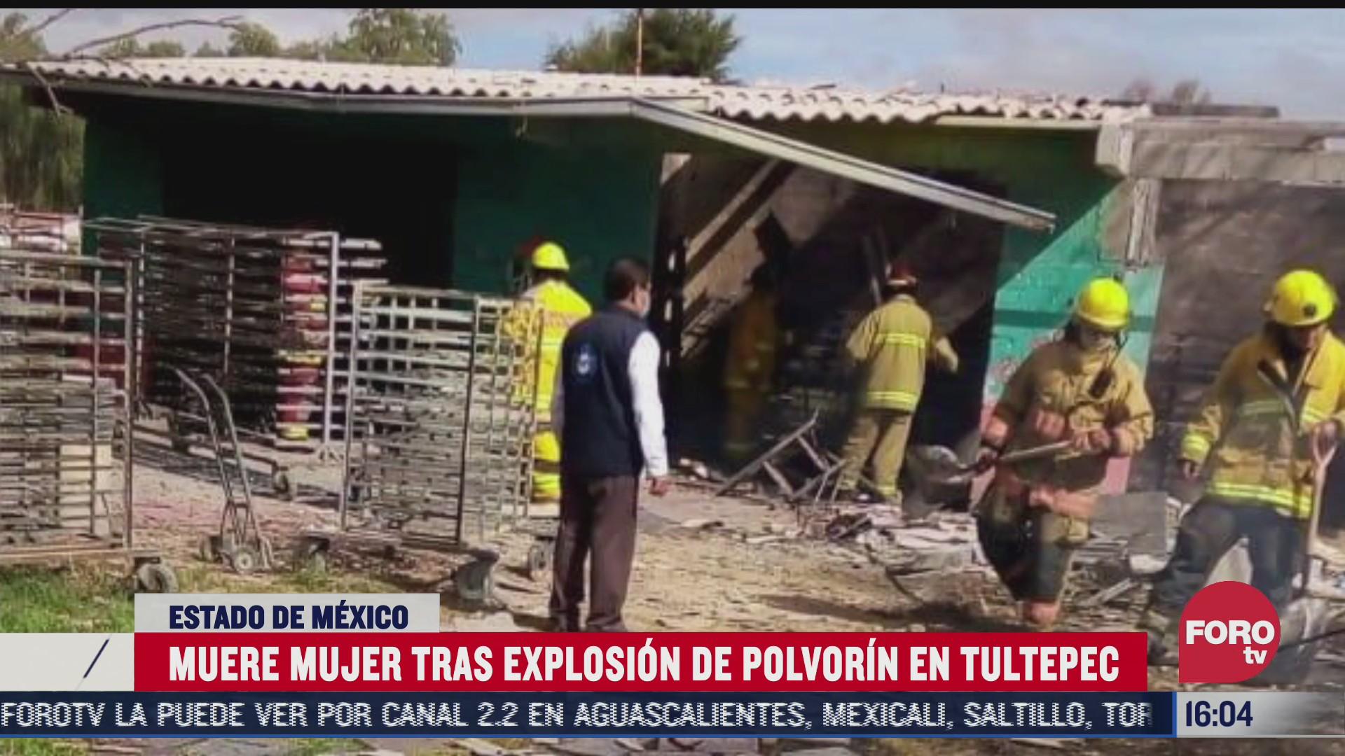 muere mujer tras explosion de polvorin en tultepec edomex